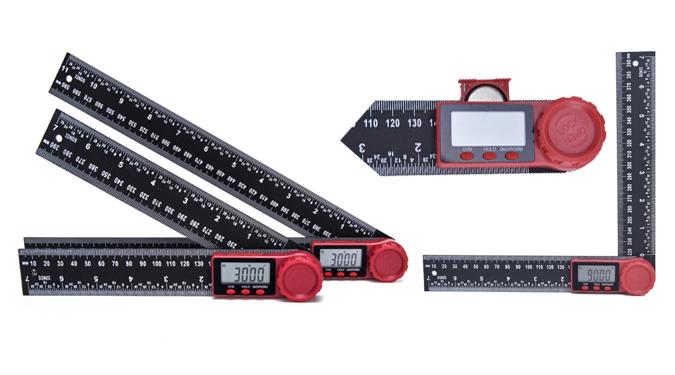 2 in1塑料亚博体育官方版角度尺